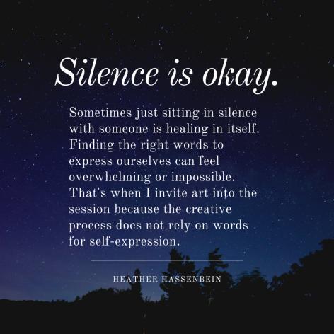 Silence is okay.